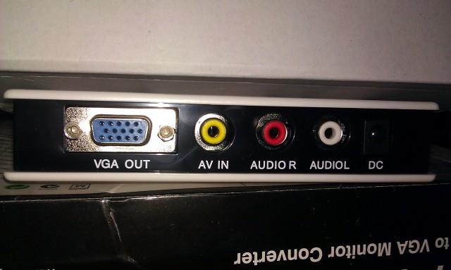 Boitier convertisseur vidéo vers moniteur VGA V2V Pro [V2V Pro Video to VGA Monitor Converter Box]