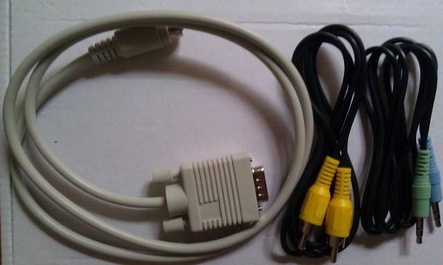 Câbles CVBS, Vidéo composite et mini jack [CVBS, Video composite and mini jack cables]