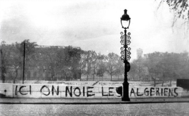 Ici on noie les algériens, 17 octobre 1961, Paris [Here we drown the Algerians, October 17th 1961, Paris]