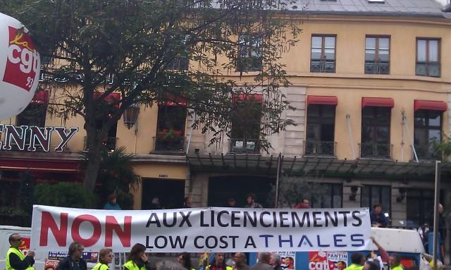 NON aux licenciements low cost à Thalès