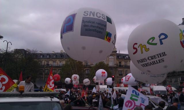 SNEP Paris-Créteil Versailles et SNCS (syndicat national des chercheurs scientifiques)