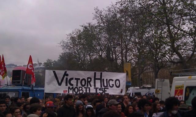 Lycée Victor Hugo mobilisé contre les misérables