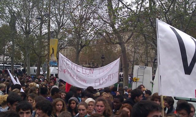 Lycée Fénélon mobilisé contre les suppressions et l'austérité