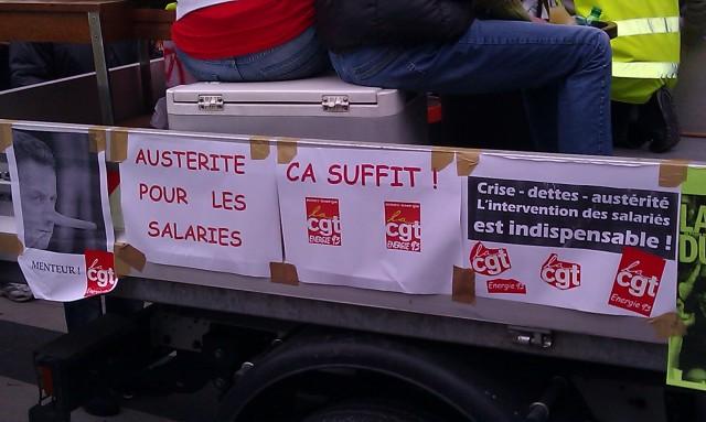 Austérité pour les salariés, ça suffit! (CGT Energie 93)