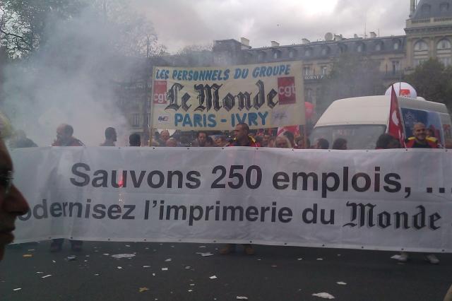Sauvons 250 emplois, ... modernisez l'imprimerie du Monde (Personnels du groupe Le Monde, CGT Paris-Ivry)
