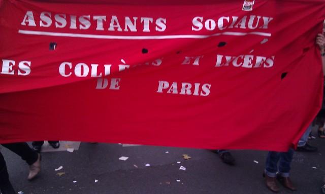 Assistants sociaux, les collèges et lycées de Paris