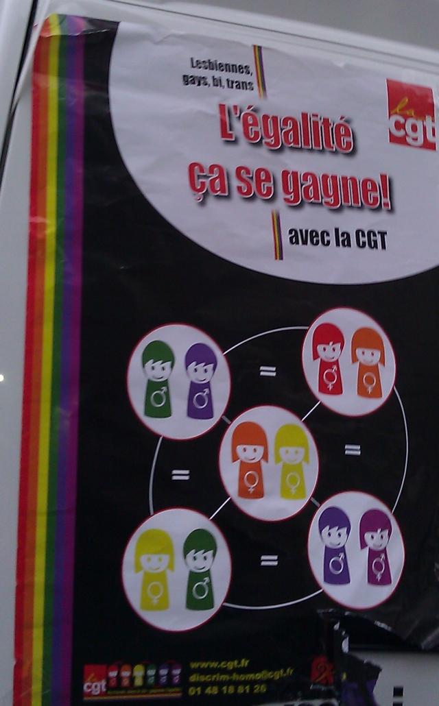 Lesbiennes, gays, bi, trans, l'égalité ça se gagne avec la CGT (CGT)