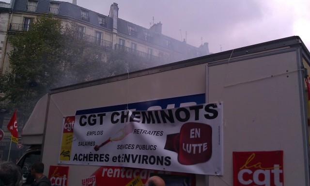 Emplois, salaires, retraites, services publics. CGT cheminots en lutte (CGT Achères et environ)