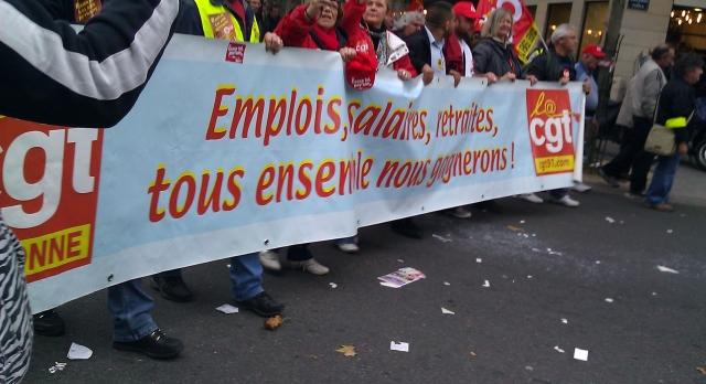 Emplois, salaires, retraites, tous ensemble nous gagnerons (CGT Essonne)
