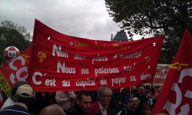Non au plan d'austérité. Nous ne paierons pas! C'est au capital de payer sa dette! (Union locale CGT Massy)