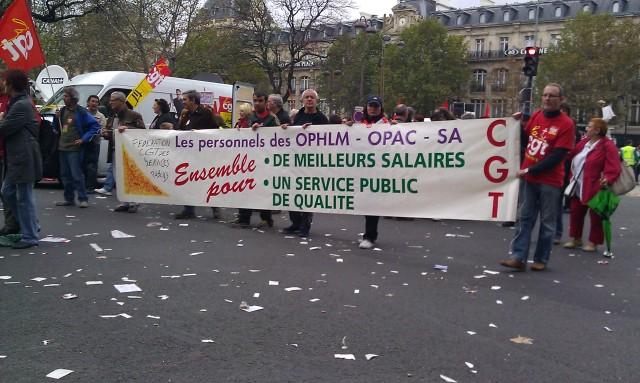 Les personnels des OPHLM, OPAC, SA. Ensemble pour de meilleurs salaires, un service public de qualité (fédération CGT des services publics)