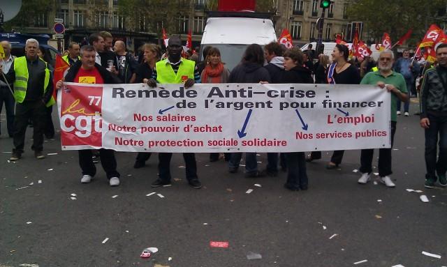 Remède anti-crise : de l'argent pour financer nos salaires, notre pouvoir d'achat, notre protection sociale solidaire, nos services publics, l'emploi (CGT Seine-et-Marne)