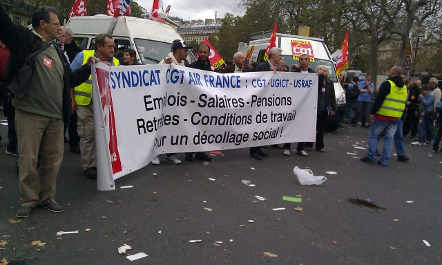 Emplois, salaires, pensions, retraites, condition de travail, pour un décollage social (CGT Air France)