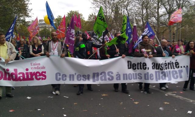 Dette, austérité, ce n'est pas à nous de payer (Union syndicale Solidaires)