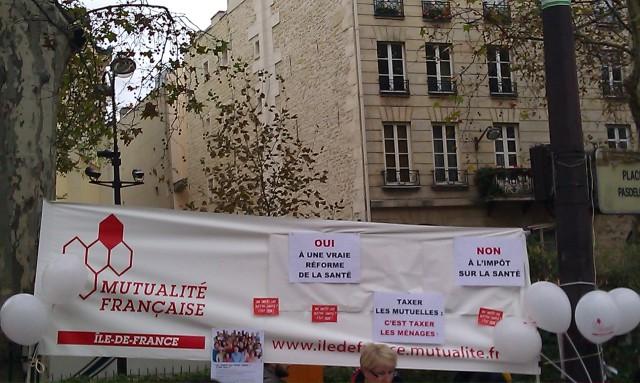 Oui à une vraie réforme de la santé, taxer les mutuelles c'est taxer les ménages, non à l'impôt sur la santé (Mutualité Française Ile-de-France)