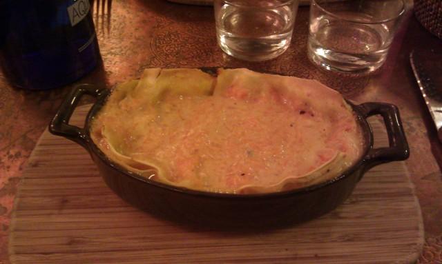 Lasagne au potiron et au muffone [Lasagne with pumpkin and muffone]