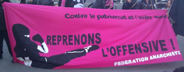 Contre le patriarcat et l'ordre moral, reprenons l'offensive, fédération anarchiste [Against patriarchy and the moral order, let us resume the offensive, anarchist federation]