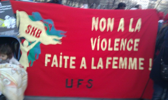 Non à la violence faite à la femme [No to violence against women]