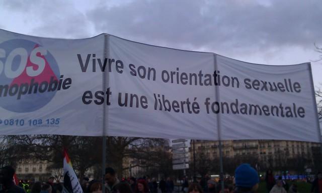 Vivre son orientation sexuelle est une liberté fondamentale, SOS homophobie [Living his sexual orientation is a fundamental freedom, SOS homophobia]