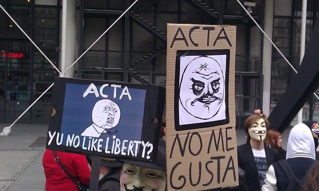 ACTA : Pourquoi n'aimez-vous pas la liberté? [ACTA: Why you don't like liberty?]