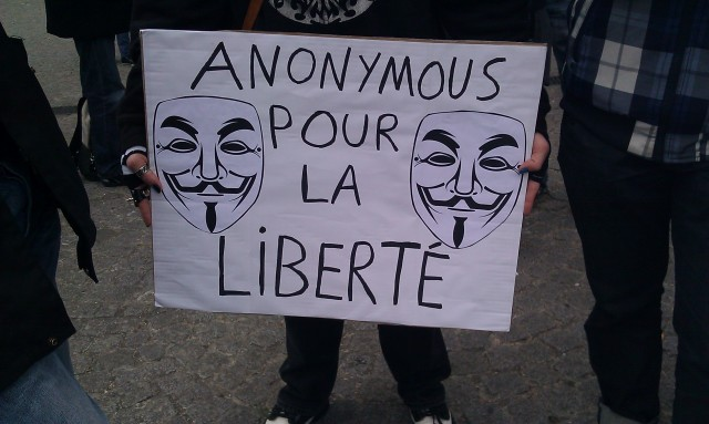 Anonymous pour la liberté [Anonymous for freedom]