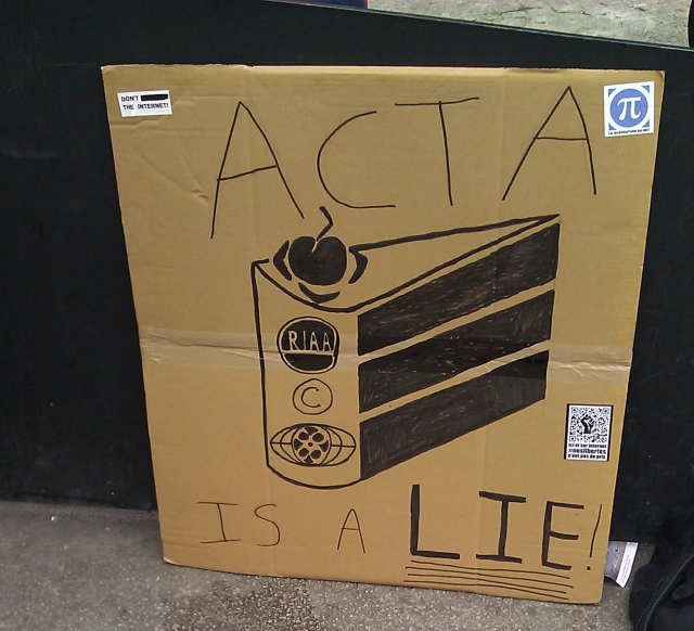 ACTA est un mensonge [ACTA is a lie]
