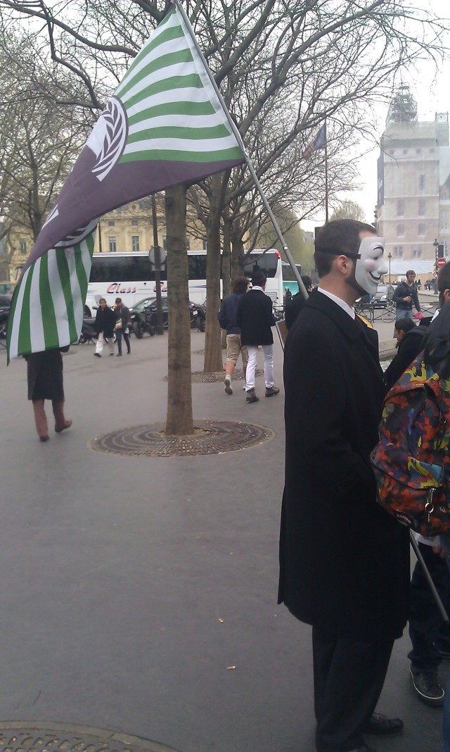 drapeau Anonymous [Anonymous flag]