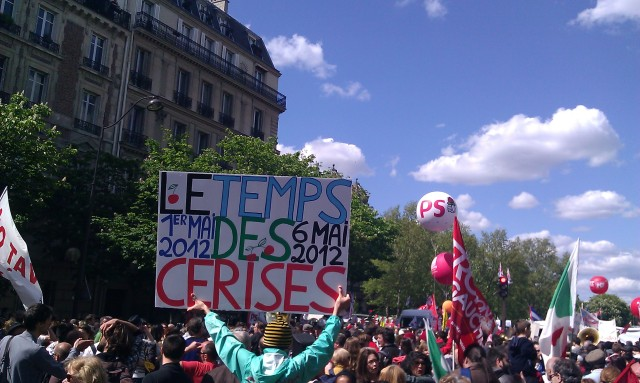 1er mai 2012, 6 mai 2012, le temps des cerises [May, 1st, 2012, May, 6th, 2012, time of cherries]