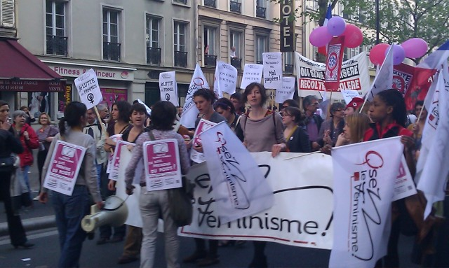 Cortège d'Osez Le Féminisme [March of Dare The Feminism]
