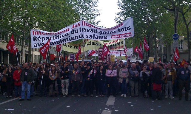 Cortège de Lutte Ouvrière [March of Workers' Struggle]