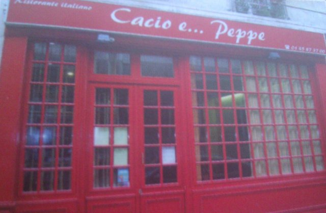 Cacio e... Peppe : restaurant italien à Paris [Cacio e... Peppe: Italian restaurant in Paris]