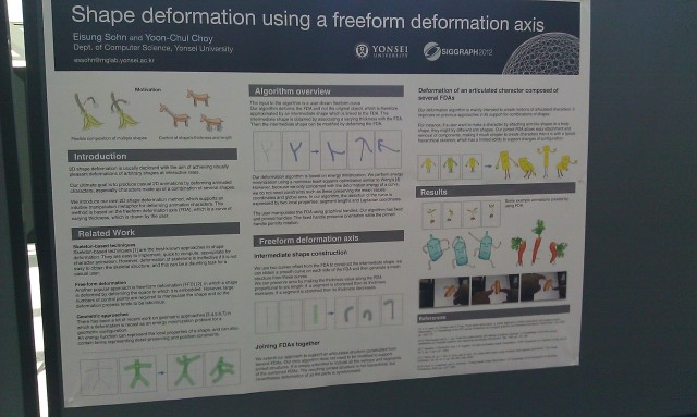 SIGGRAPH 2012 poster :  [SIGGRAPH 2012 poster: ]