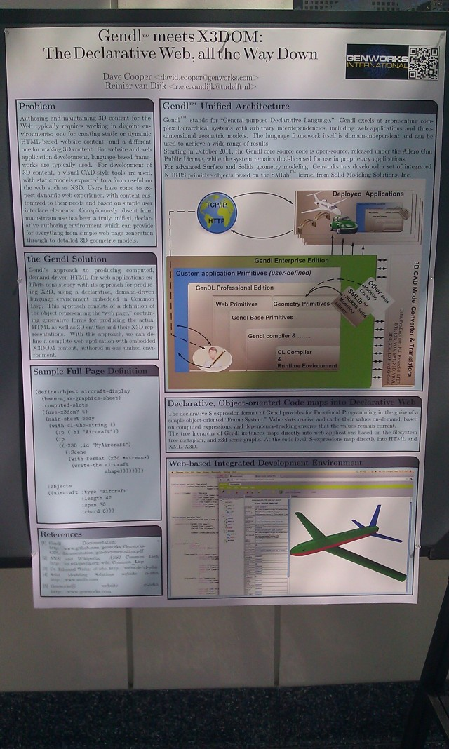 [SIGGRAPH 2012 poster: Gendl™ meets X3DOM: the declarative web, all the way down]