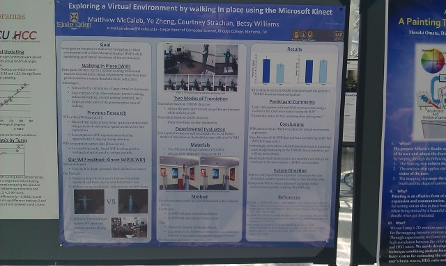 SIGGRAPH 2012 poster :  [SIGGRAPH 2012 poster: Exploring a virtual environment by walking in place with Microsoft Kinect]