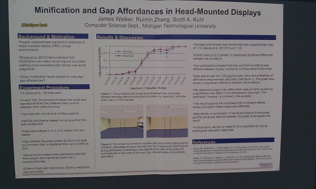 SIGGRAPH 2012 poster :  [SIGGRAPH 2012 poster: Minification and gap affordances in head-mounted displays]