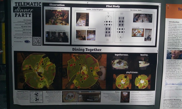 SIGGRAPH 2012 poster :  [SIGGRAPH 2012 poster: The telematic dinner party]