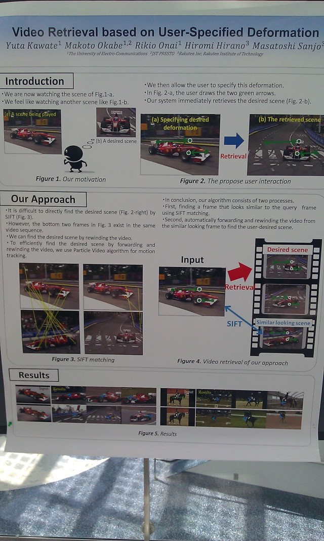 SIGGRAPH 2012 poster :  [SIGGRAPH 2012 poster: Video retrieval based on user-specified deformation]