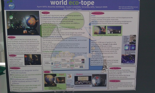 SIGGRAPH 2012 poster :  [SIGGRAPH 2012 poster: World eco-tope]