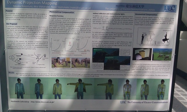 SIGGRAPH 2012 poster :  [SIGGRAPH 2012 poster: Dynamic projection mapping]
