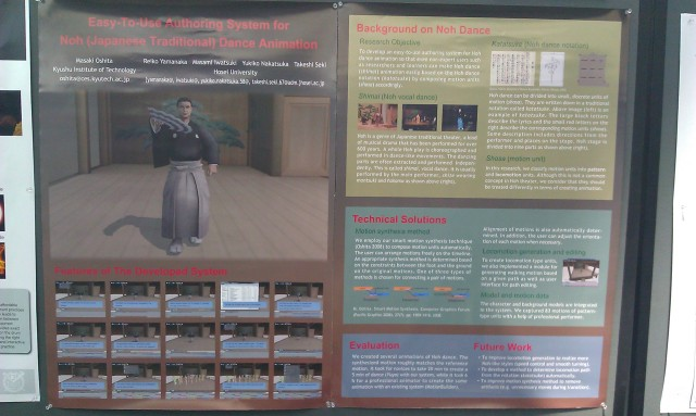 SIGGRAPH 2012 poster :  [SIGGRAPH 2012 poster: Easy-to-use authoring system for Noh (Japanese traditional) dance animation]