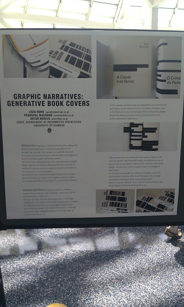 SIGGRAPH 2012 poster :  [SIGGRAPH 2012 poster: Graphic narratives: generative book covers]
