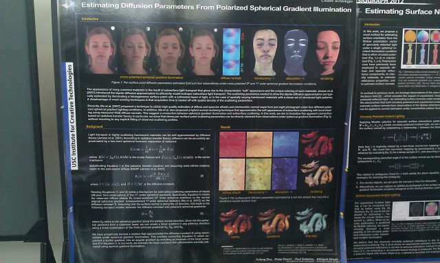 SIGGRAPH 2012 poster :  [SIGGRAPH 2012 poster: Estimating diffusion parameters from polarized spherical gradient illumination]