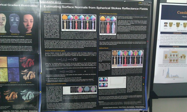 SIGGRAPH 2012 poster :  [SIGGRAPH 2012 poster: Estimating specular normals from spherical stokes reflectance fields]