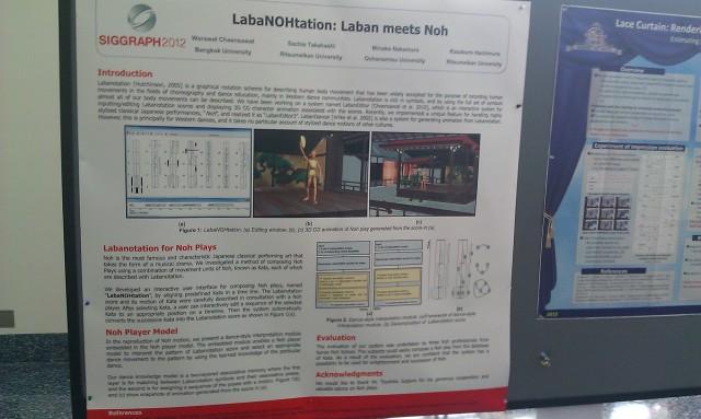 SIGGRAPH 2012 poster :  [SIGGRAPH 2012 poster: LabaNOHtation: Laban meets Noh]
