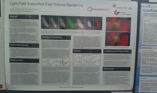 SIGGRAPH 2012 poster :  [SIGGRAPH 2012 poster: Light-field supported fast volume rendering]