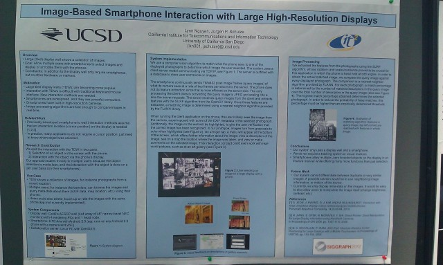 SIGGRAPH 2012 poster :  [SIGGRAPH 2012 poster: Image-based smartphone interaction with large high-resolution displays]