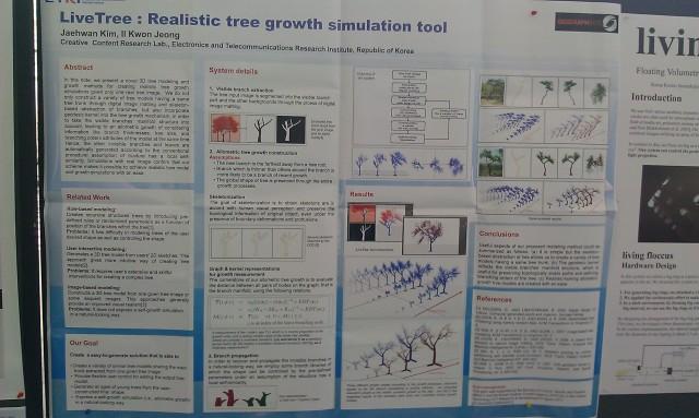 SIGGRAPH 2012 poster : LiveTree : Outil de simulation réaliste de croissance d'arbre [SIGGRAPH 2012 poster: LiveTree: Realistic tree growth simulation tool]