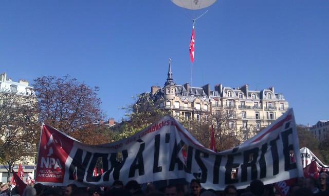 Non à l'austérité, NPA [No to the austerity, NPA]