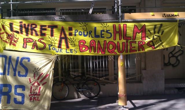 Livret A : pour les HLM, pas pour les banquiers, DAL [Savings account A: for social housing, not for bankers, DAL]
