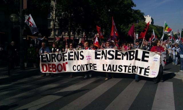 Européens ensemble debout contre l'austérité, Côte d'Or [European standing together against austerity, golden coast]